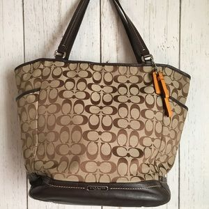 COACH Tote Signature C Canvas Brown/Khaki Handbag